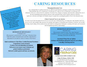 Caring Resources is committed to providing the necessary skills and resources for the professional caregiver.